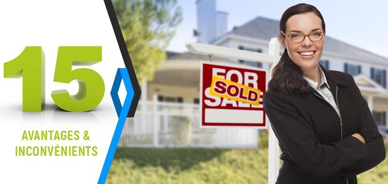 agent immobilier avantage et inconvenient