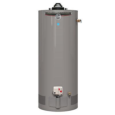 Le maître incontesté du palmarès des meilleurs chauffe-eau en 2018, le Rheem Performance Platinum 630144 opérant au gaz naturel.
