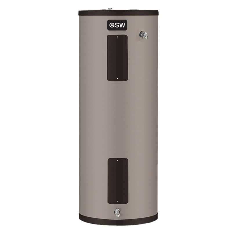 Le chauffe-eau GSW G680TDE-45 250 à 60 gallons, un modèle électrique qui se qualifie parmi les appareils dans le palmarès des 10 meilleurs au Québec en 2018.