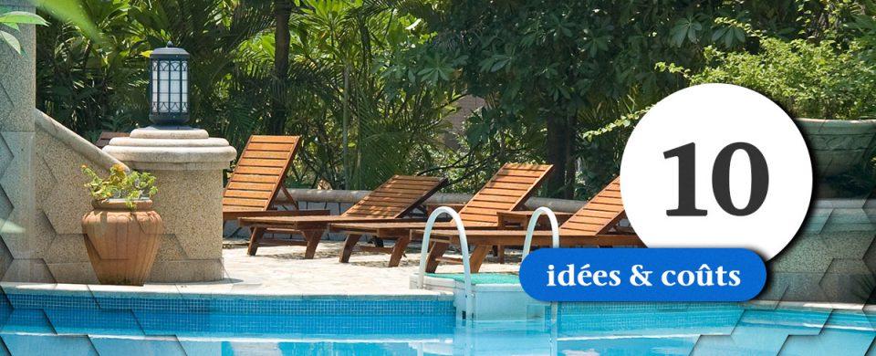 10 idées d'aménagement paysager incluant une piscine creusée ou hors terre + Exemples de coûts