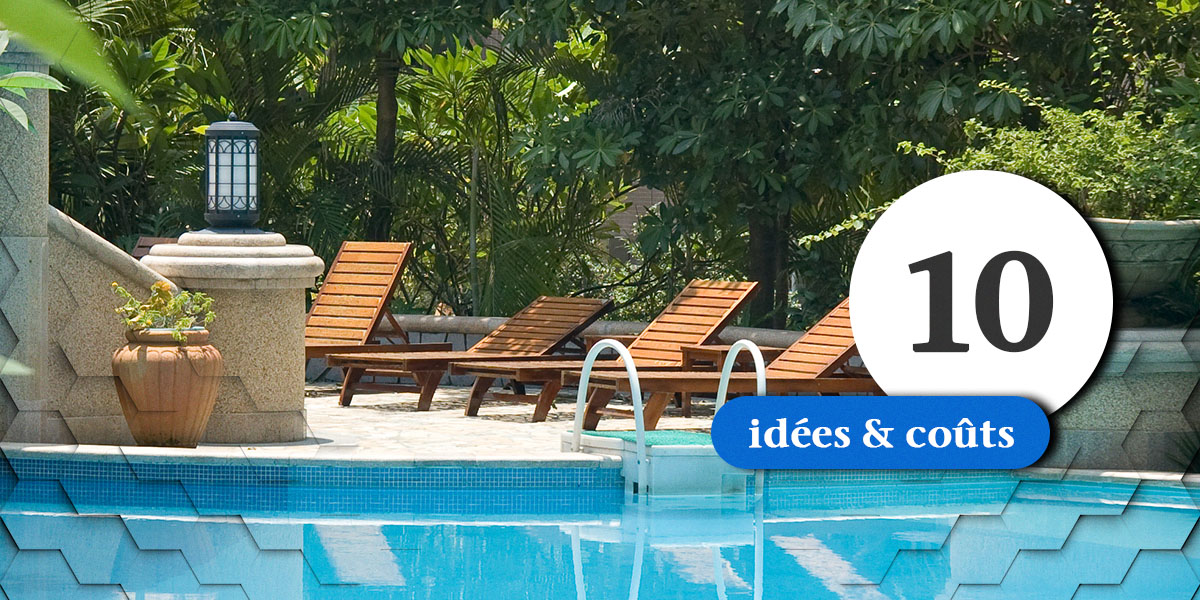 10 id es d 39 am nagement paysager incluant une piscine. Black Bedroom Furniture Sets. Home Design Ideas