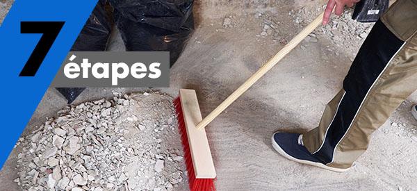 Voici les 7 étapes du nettoyage après rénovation ou construction.